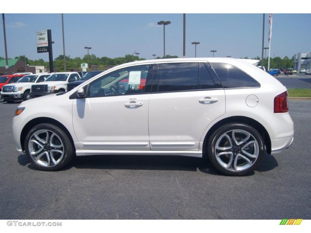 White platinum tri coat 2013 ford edge sport exterior photo 67388052