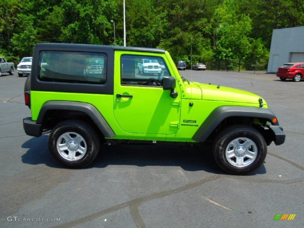 Lifted Gecko Green Jeep Wrangler