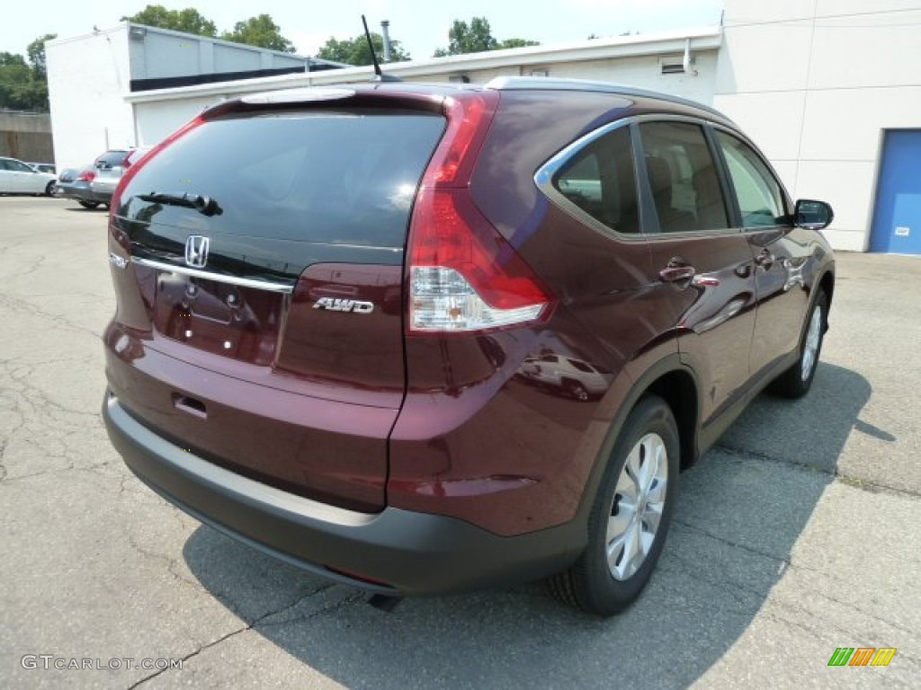 2012 CR-V EX-L 4WD - Basque Red Pearl II / Gray photo #4