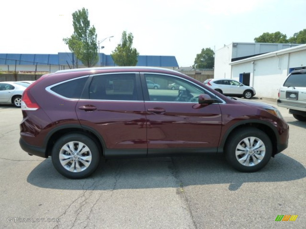 2012 CR-V EX-L 4WD - Basque Red Pearl II / Gray photo #5