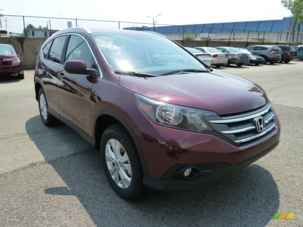 2012 CR-V EX-L 4WD - Basque Red Pearl II / Gray photo #6