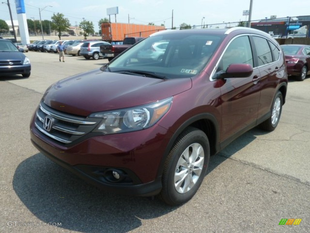 2012 CR-V EX-L 4WD - Basque Red Pearl II / Gray photo #8