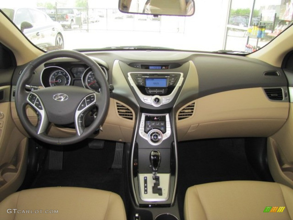 2012 Hyundai Elantra Limited Beige Dashboard Photo 67468690 Gtcarlot Com