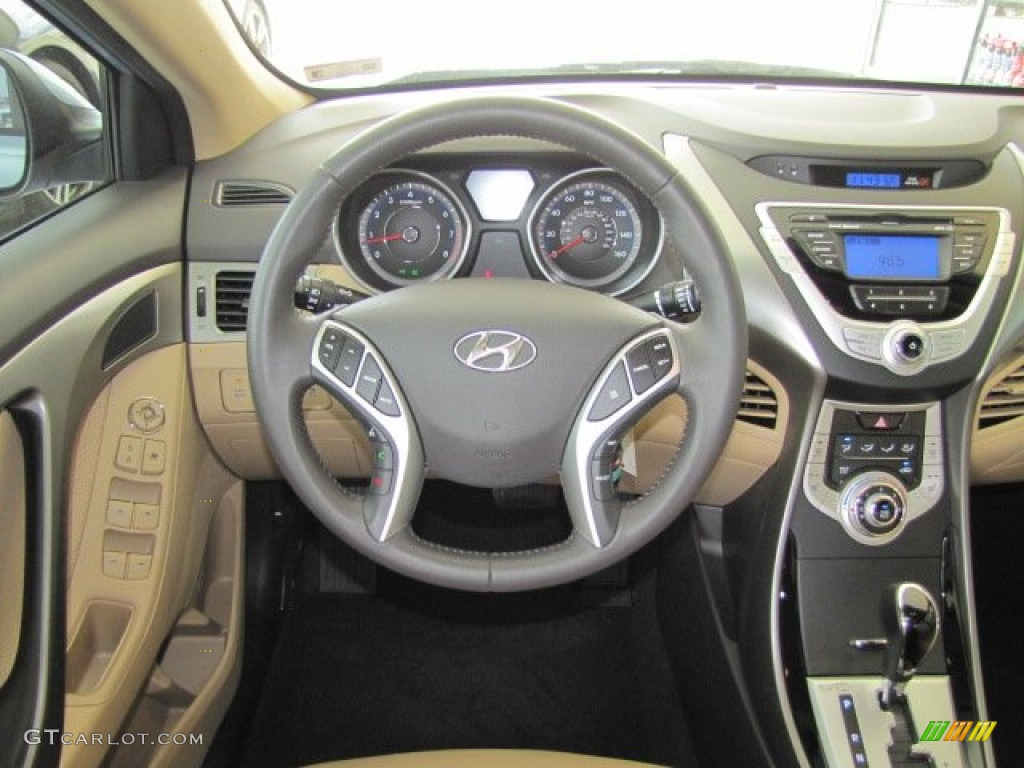 2012 Blue Sky Metallic Hyundai Elantra Limited 67430145
