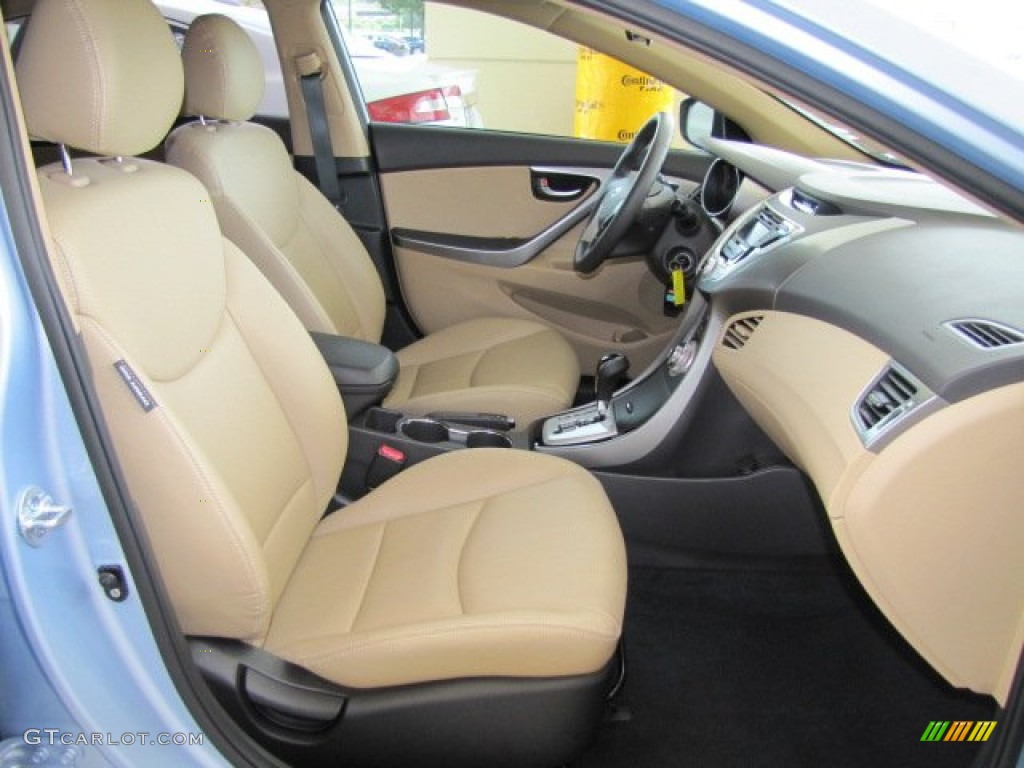 Beige Interior 2012 Hyundai Elantra Limited Photo
