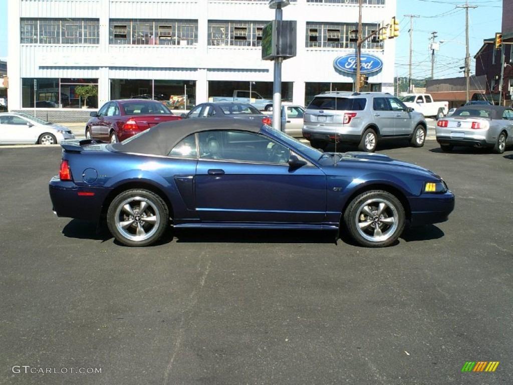 2003 Mustang GT Convertible - True Blue Metallic / Dark Charcoal photo #1