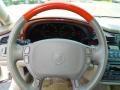2001 Cadillac DeVille Neutral Shale Interior Steering Wheel Photo
