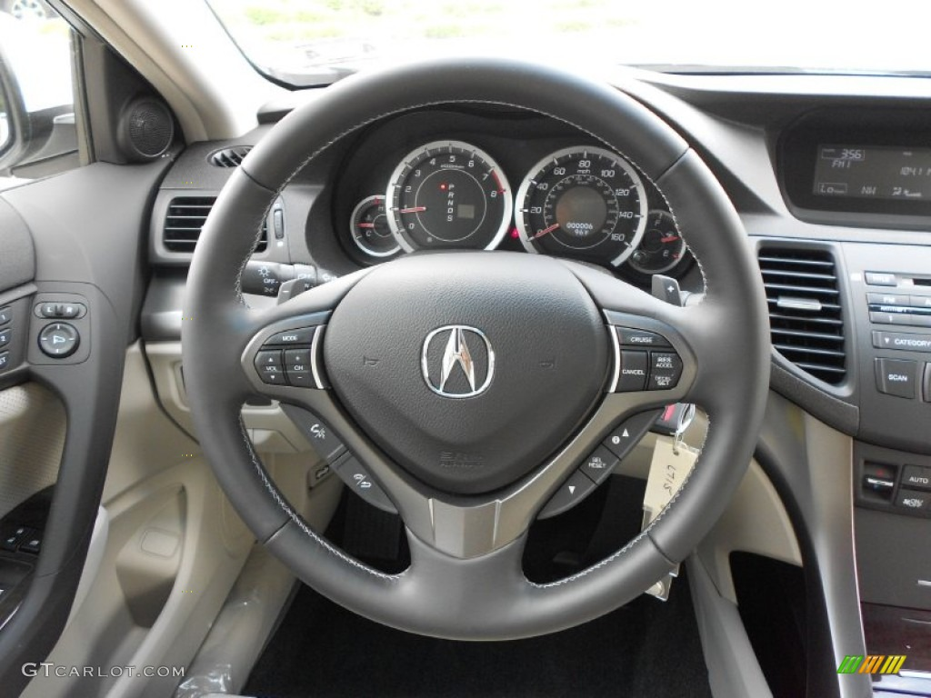 2012 Acura Tsx Sport Wagon Taupe Steering Wheel Photo 67477342 Gtcarlot Com