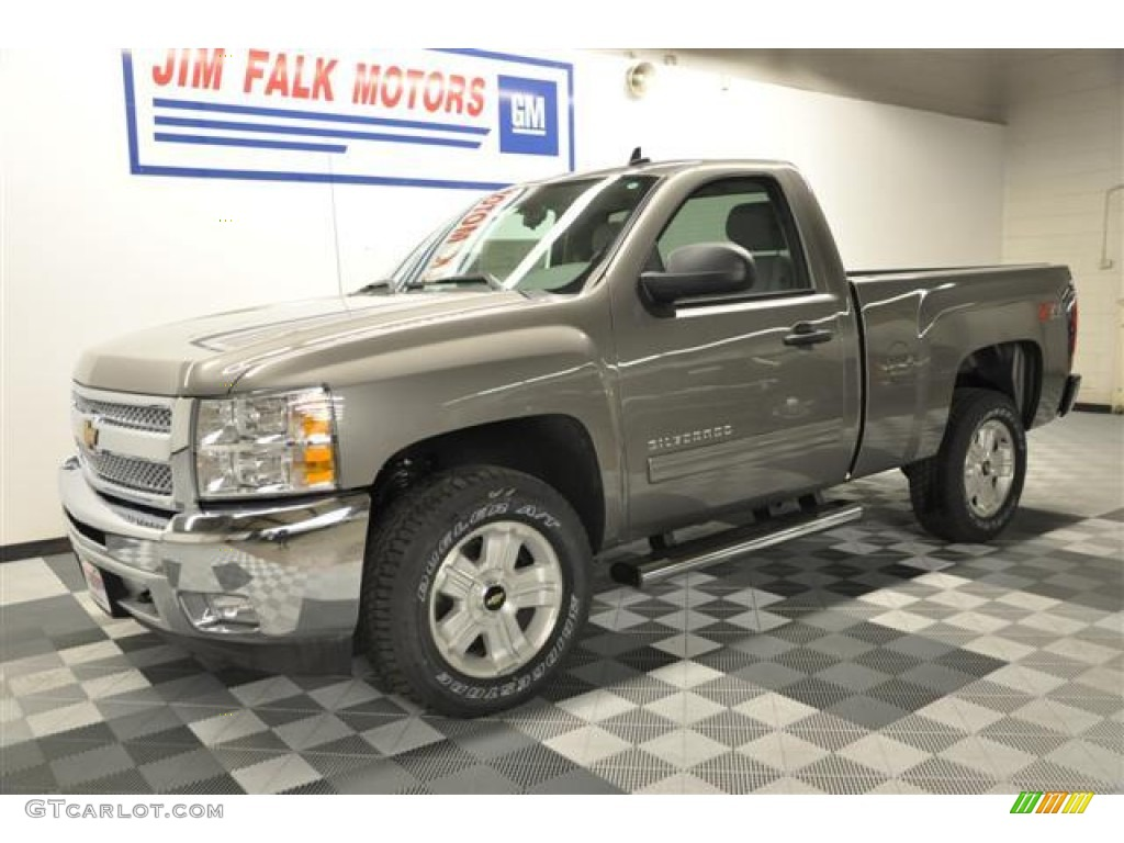 2012 Silverado 1500 LT Regular Cab 4x4 - Graystone Metallic / Light Titanium/Dark Titanium photo #1