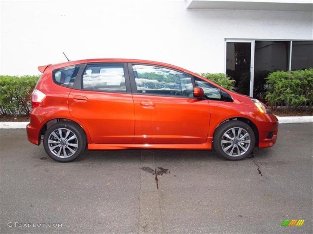 orangeburst metallic 2012 honda fit sport exterior photo. Black Bedroom Furniture Sets. Home Design Ideas