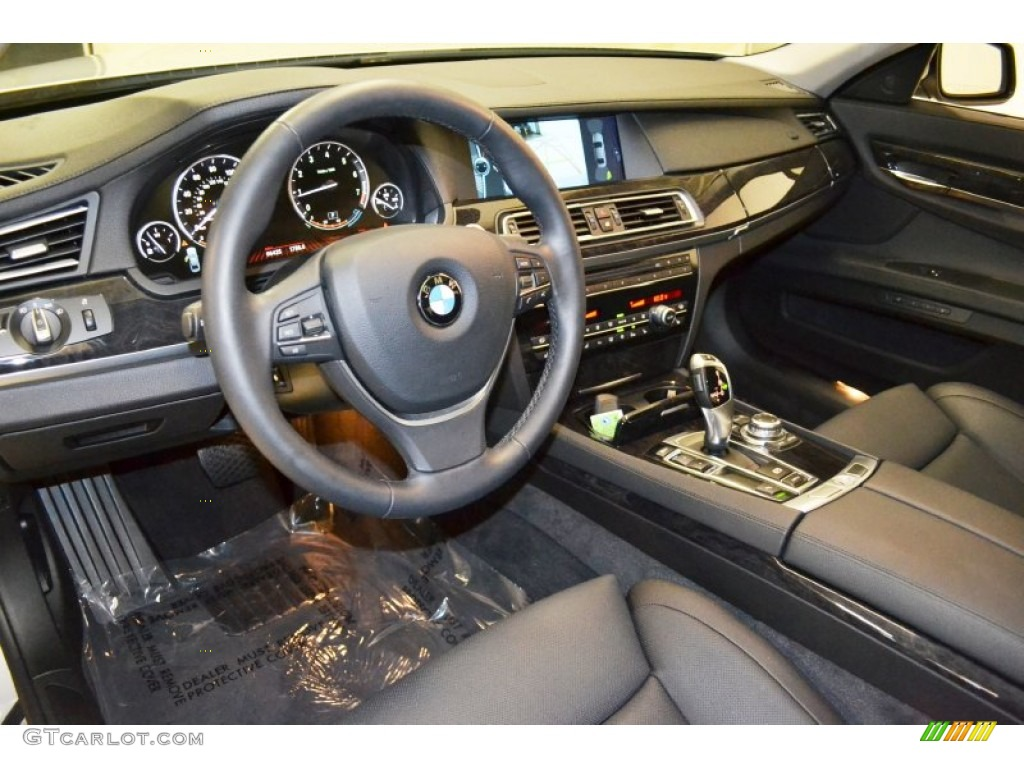 Black Interior 2012 BMW 7 Series 740i Sedan Photo 67532534