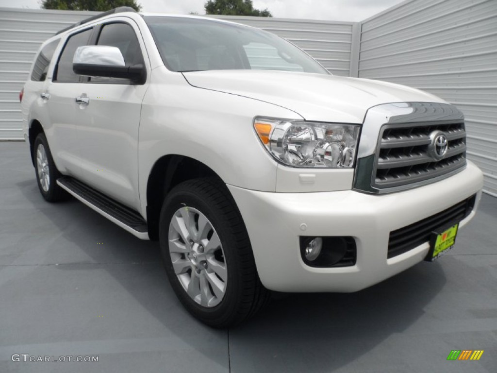 blizzard white pearl 2012 toyota sequoia platinum exterior. Black Bedroom Furniture Sets. Home Design Ideas
