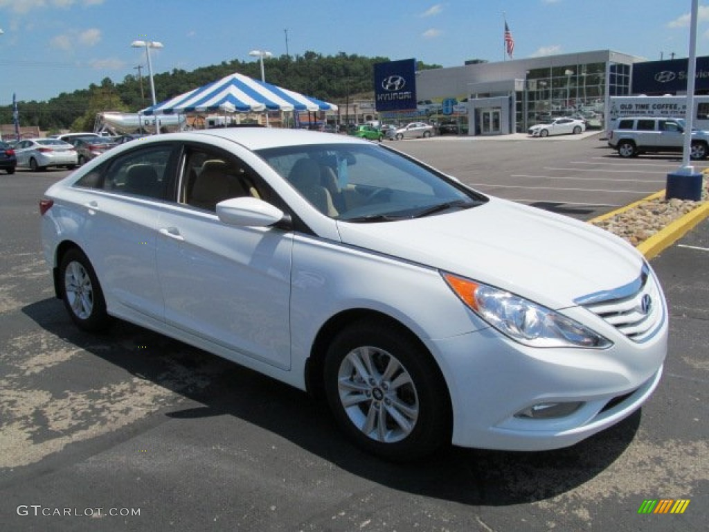 2013 shimmering white hyundai sonata gls 67493426. Black Bedroom Furniture Sets. Home Design Ideas