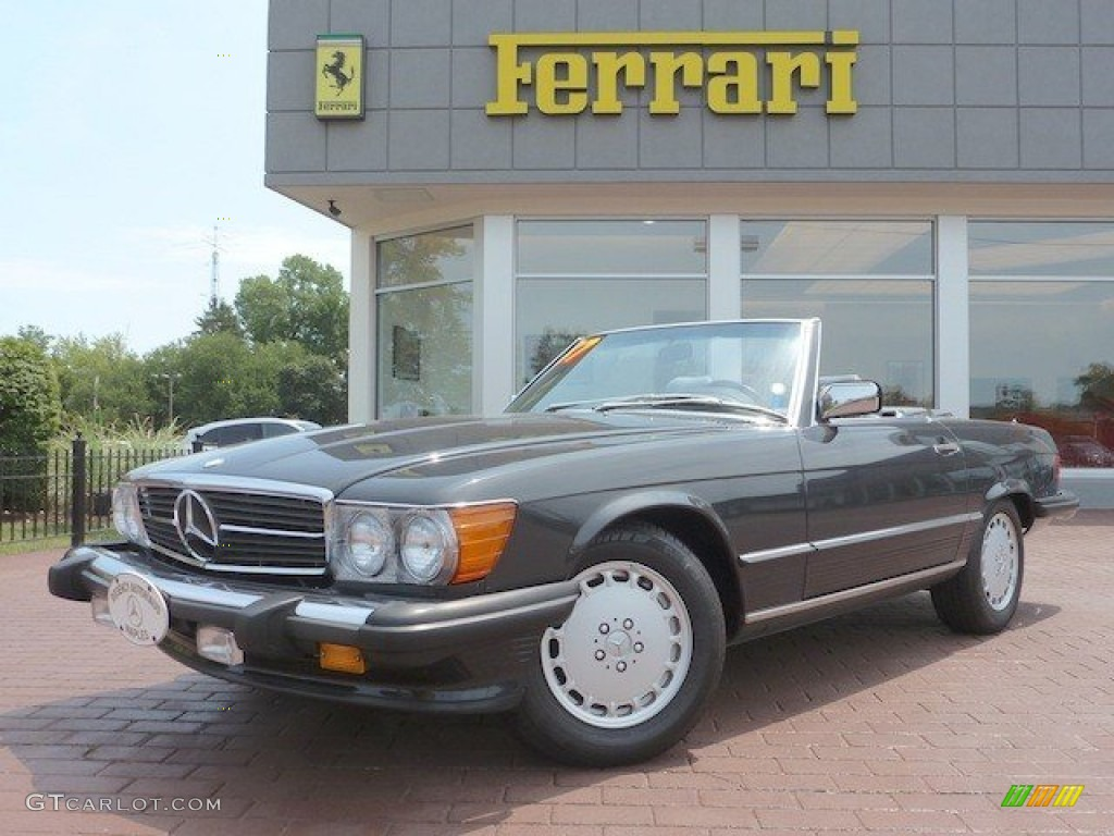 1987 anthracite grey metallic mercedes benz sl class 560 sl roadster 67493049. Black Bedroom Furniture Sets. Home Design Ideas