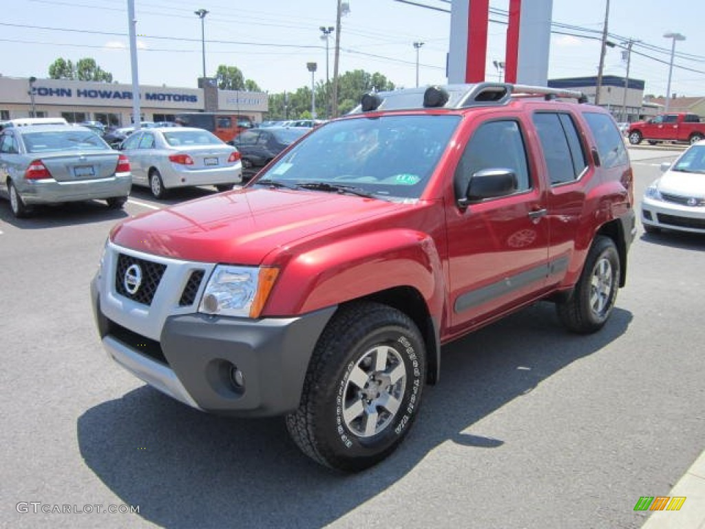 lava red 2012 nissan xterra pro 4x 4x4 exterior photo 67556871. Black Bedroom Furniture Sets. Home Design Ideas