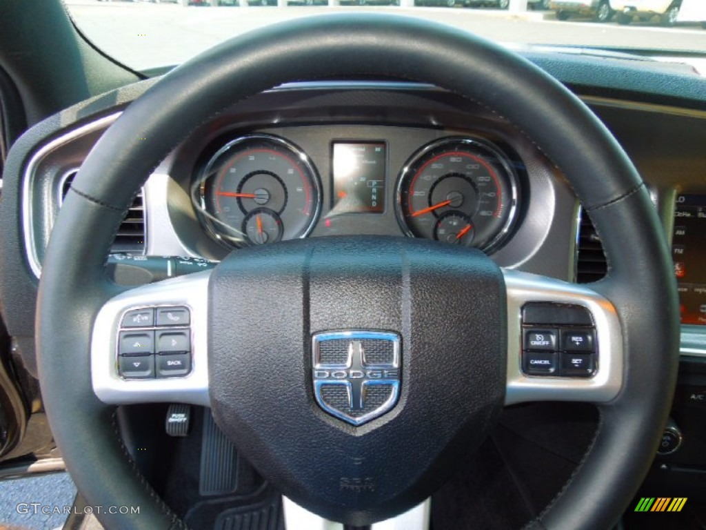 2012 dodge charger r t plus tan black steering wheel photo. Black Bedroom Furniture Sets. Home Design Ideas