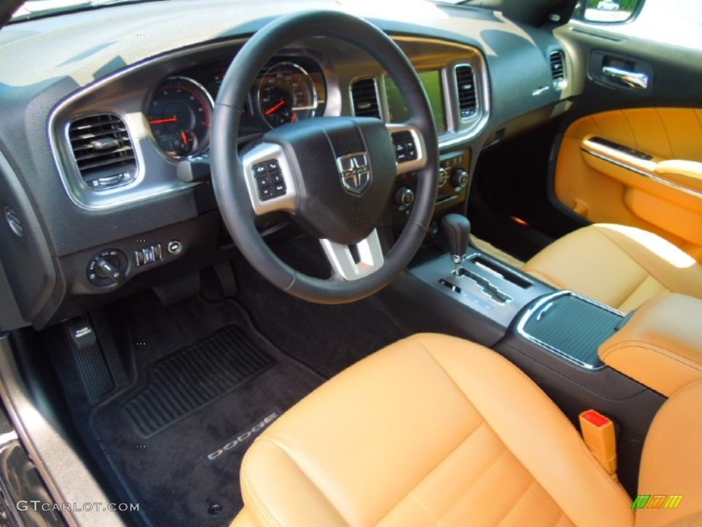 Tan Black Interior 2012 Dodge Charger R T Plus Photo 67561860