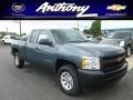 2012 Blue Granite Metallic Chevrolet Silverado 1500 Work Truck Extended Cab 4x4  photo #1