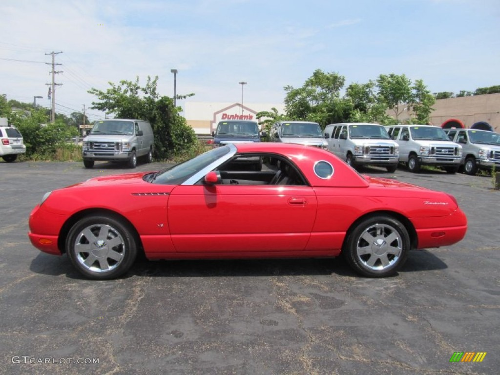 Torch red 2003 ford thunderbird