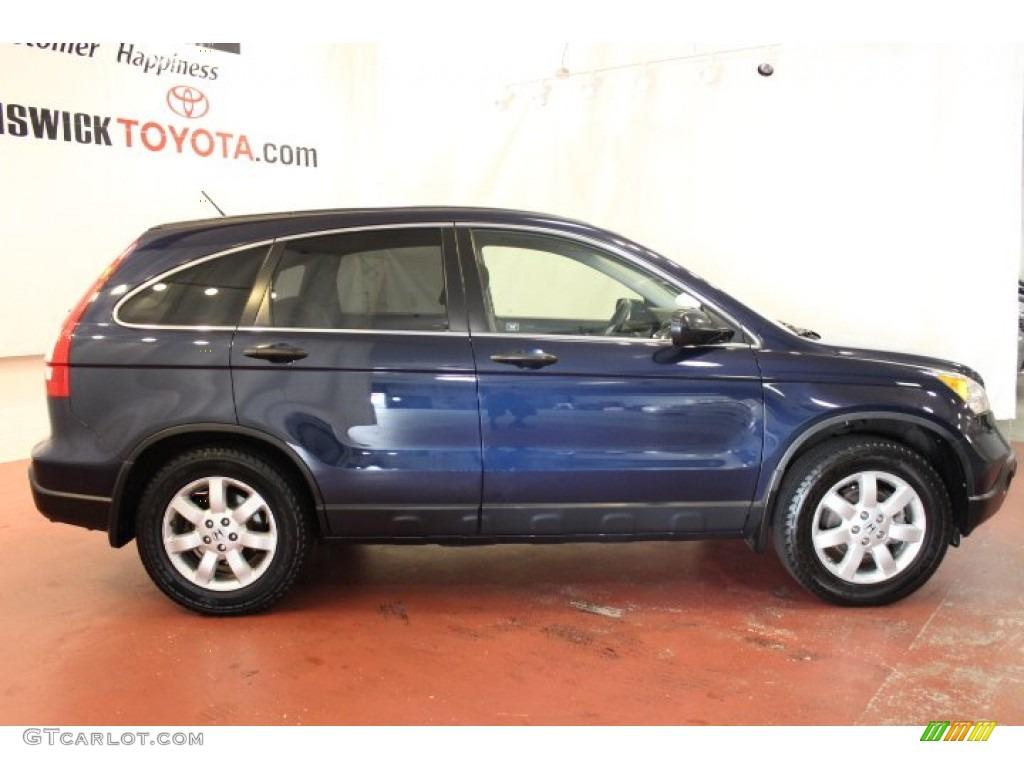 2008 CR-V EX 4WD - Royal Blue Pearl / Gray photo #2