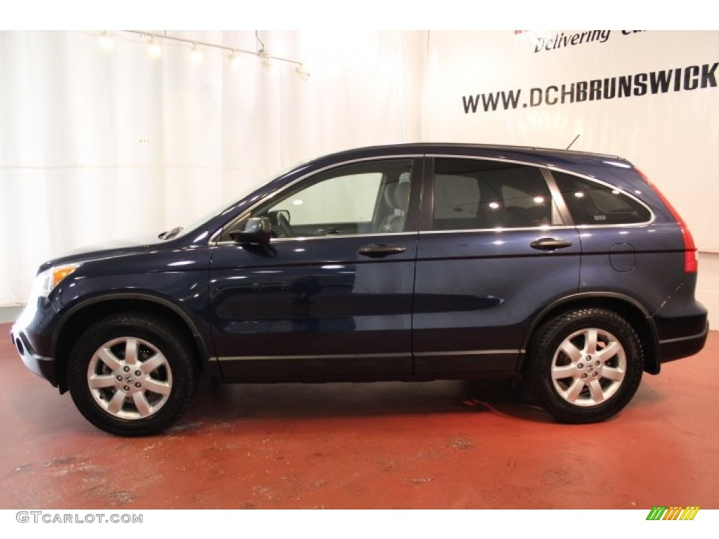 2008 CR-V EX 4WD - Royal Blue Pearl / Gray photo #5