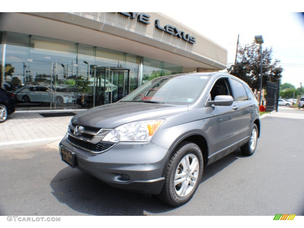 2011 CR-V EX-L 4WD - Polished Metal Metallic / Gray photo #1