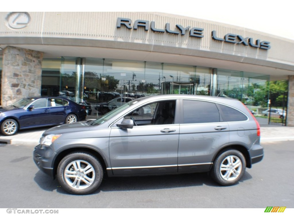 2011 CR-V EX-L 4WD - Polished Metal Metallic / Gray photo #3