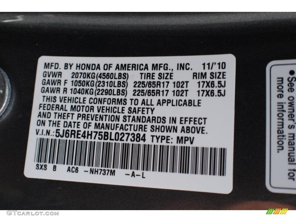 2011 CR-V EX-L 4WD - Polished Metal Metallic / Gray photo #20