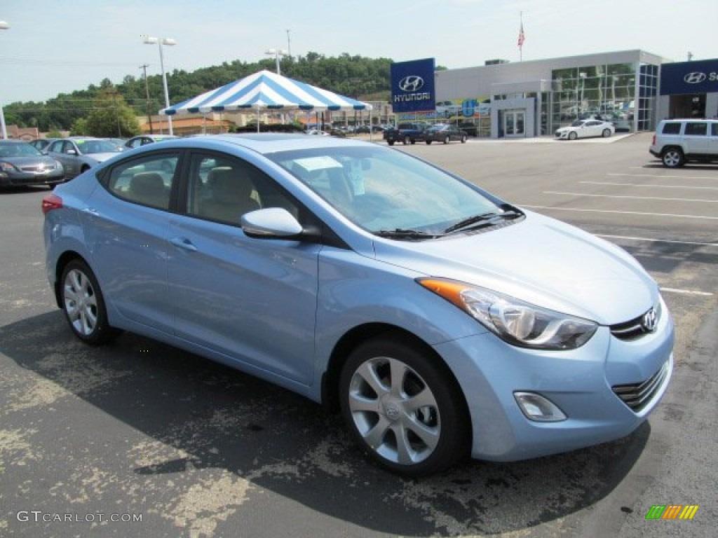 2013 Blue Sky Metallic Hyundai Elantra Limited 67593538