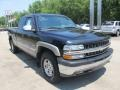 2002 Onyx Black Chevrolet Silverado 1500 LS Extended Cab 4x4  photo #6
