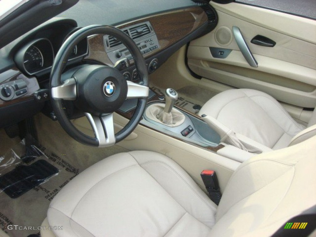 Beige Interior 2003 Bmw Z4 3 0i Roadster Photo 67671034