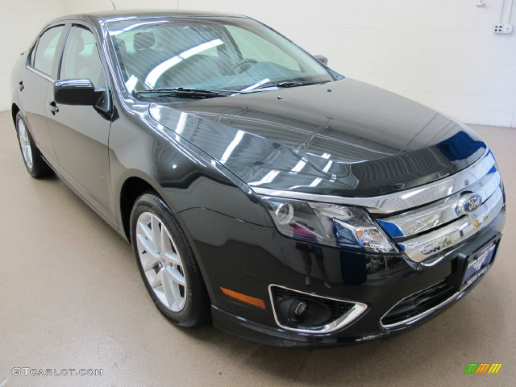 2011 Fusion SEL V6 AWD - Tuxedo Black Metallic / Medium Light Stone photo #1