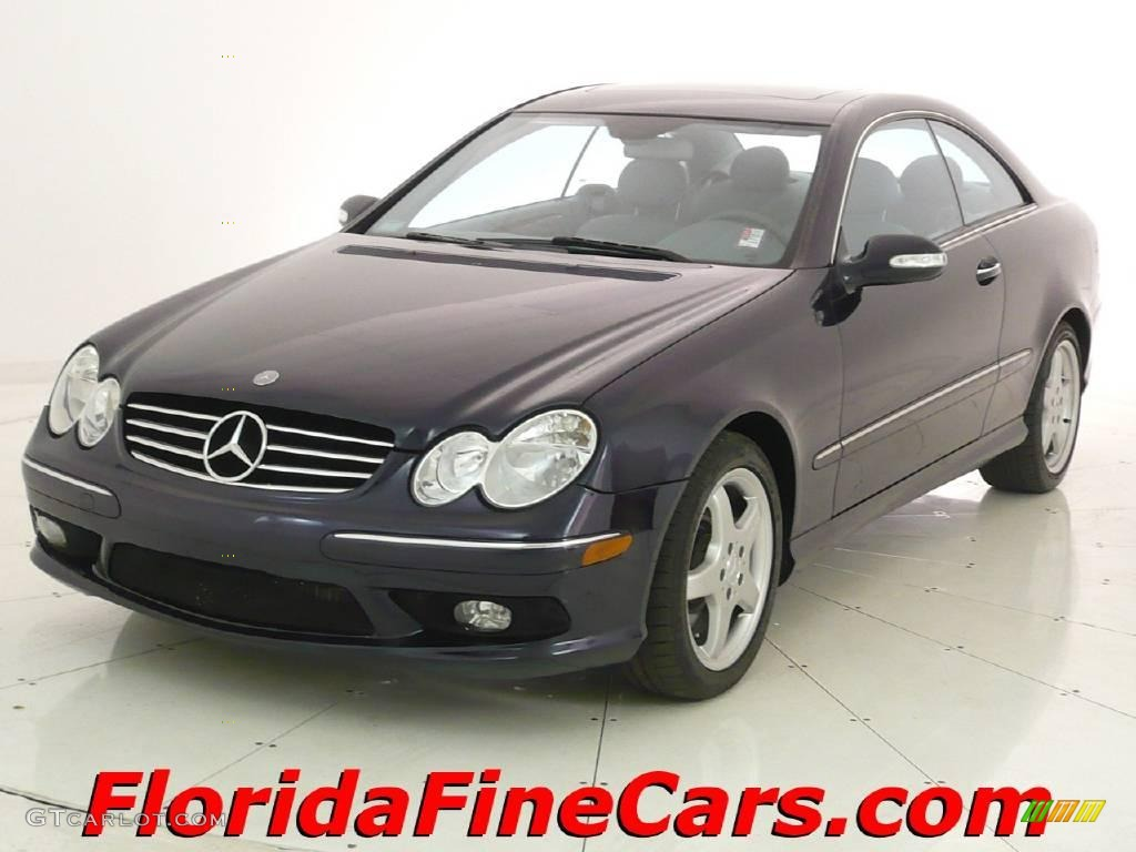 2003 Capri Blue Metallic Mercedes Benz Clk 500 Coupe