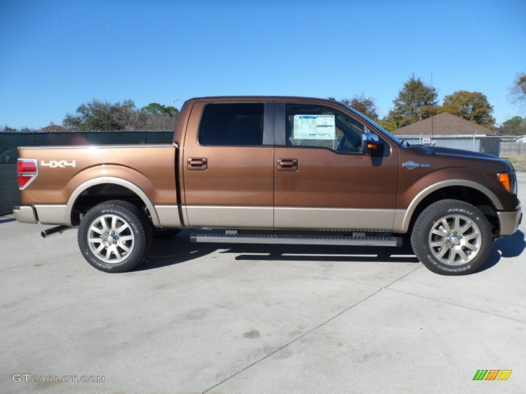 golden bronze metallic 2012 ford f150 king ranch supercrew 4x4 exterior photo 67720595. Black Bedroom Furniture Sets. Home Design Ideas