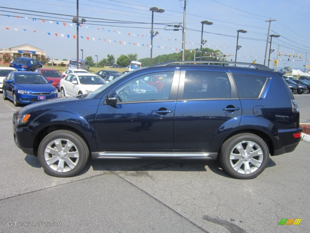 Cosmic Blue Metallic 2012 Mitsubishi Outlander SE AWD Exterior Photo #67734611 | GTCarLot.com