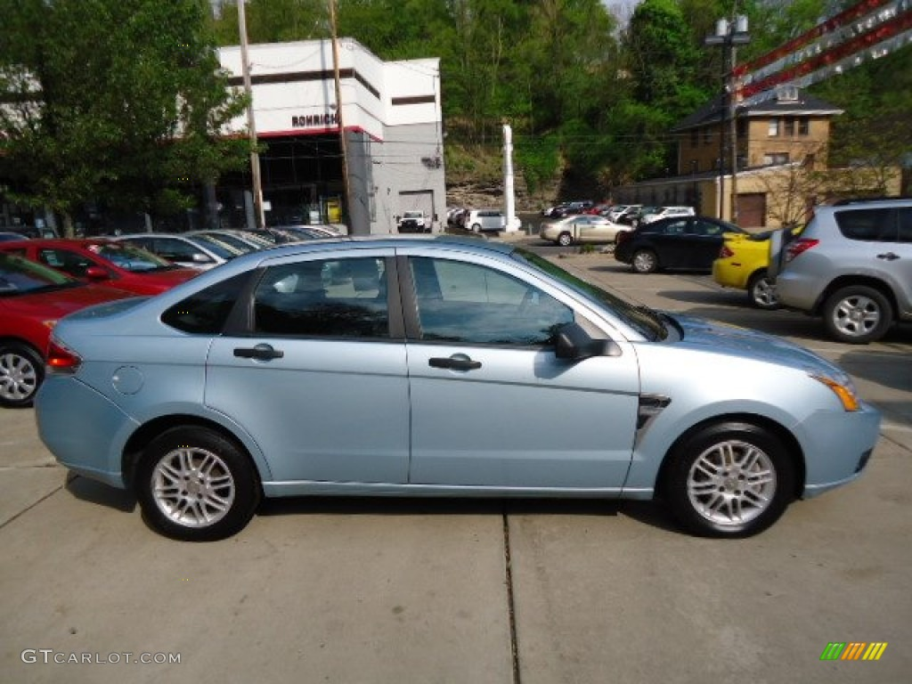 light ice blue metallic 2008 ford focus se sedan exterior photo 67750271. Black Bedroom Furniture Sets. Home Design Ideas
