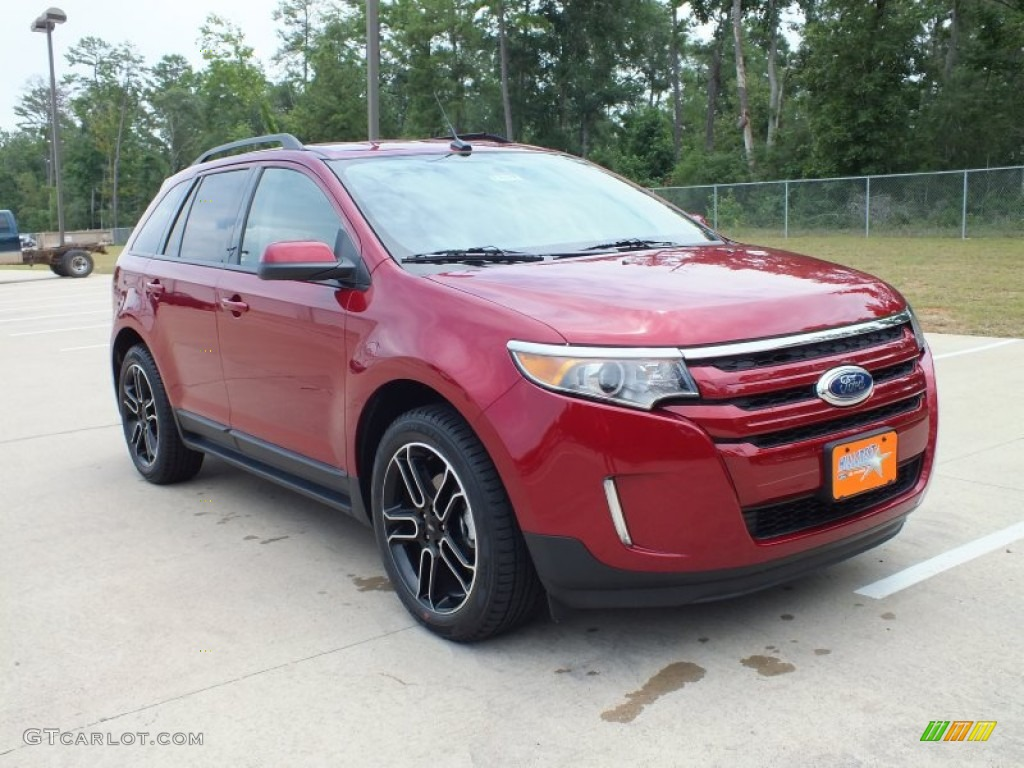 ruby red 2013 ford edge sel ecoboost exterior photo 67752791. Black Bedroom Furniture Sets. Home Design Ideas