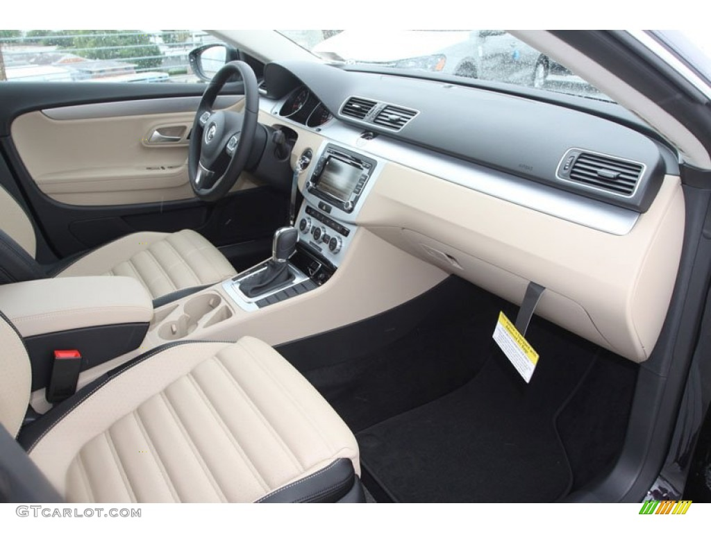 2013 volkswagen cc sport desert beige black dashboard photo 67765427. Black Bedroom Furniture Sets. Home Design Ideas