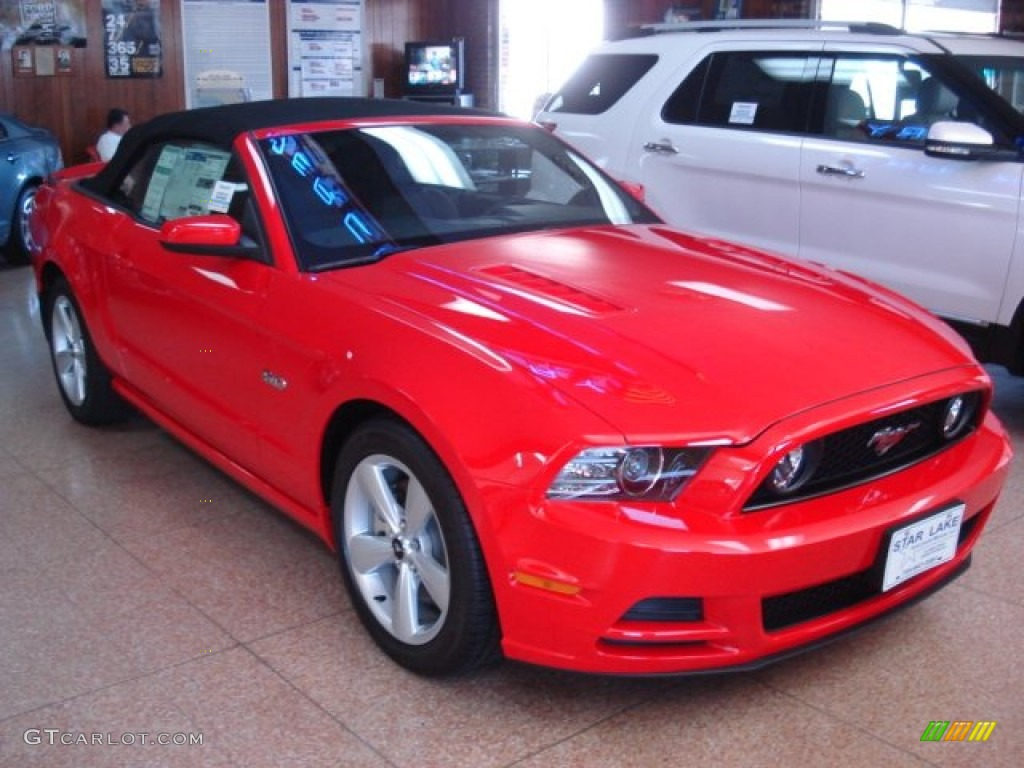 2013 Race Red Ford Mustang Gt Premium Convertible