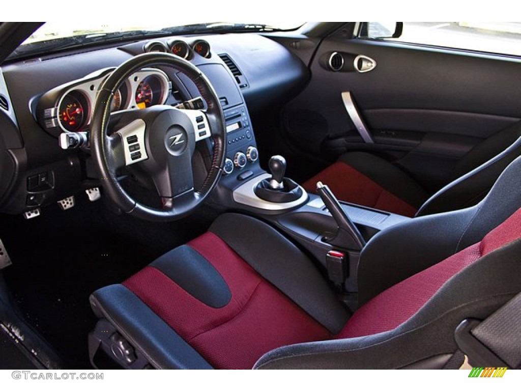 Carbon Red Interior 2007 Nissan 350z Nismo Coupe Photo