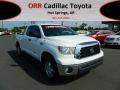 2009 Super White Toyota Tundra SR5 Double Cab 4x4  photo #1