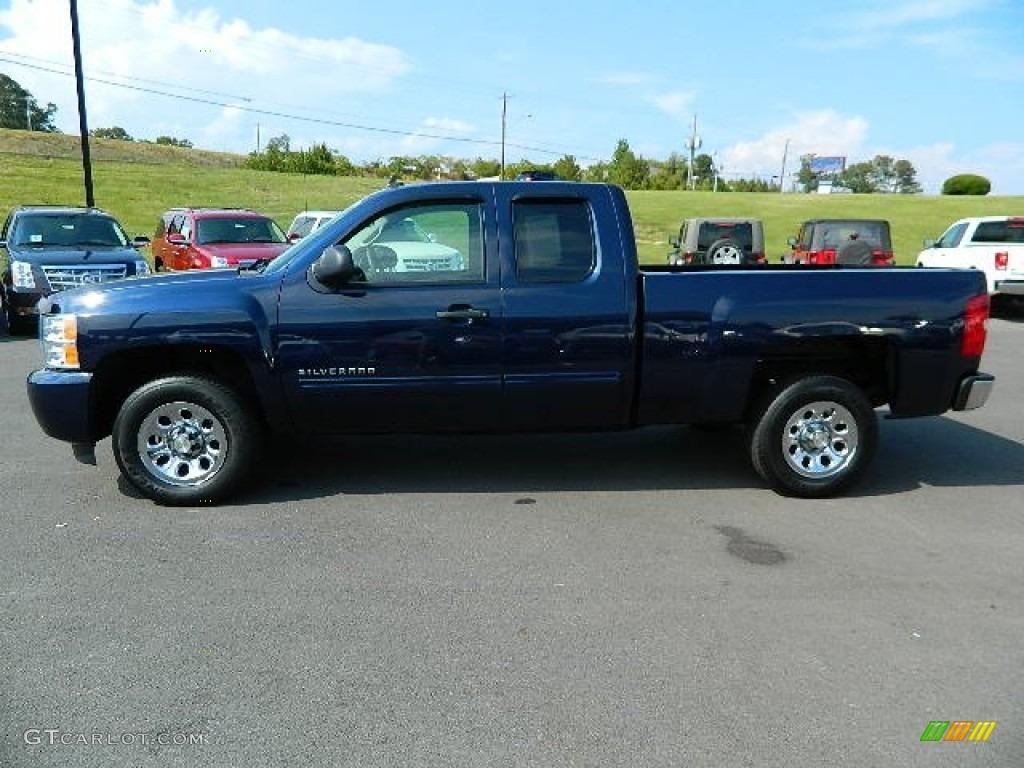 2011 Silverado 1500 LS Extended Cab - Imperial Blue Metallic / Dark Titanium photo #6