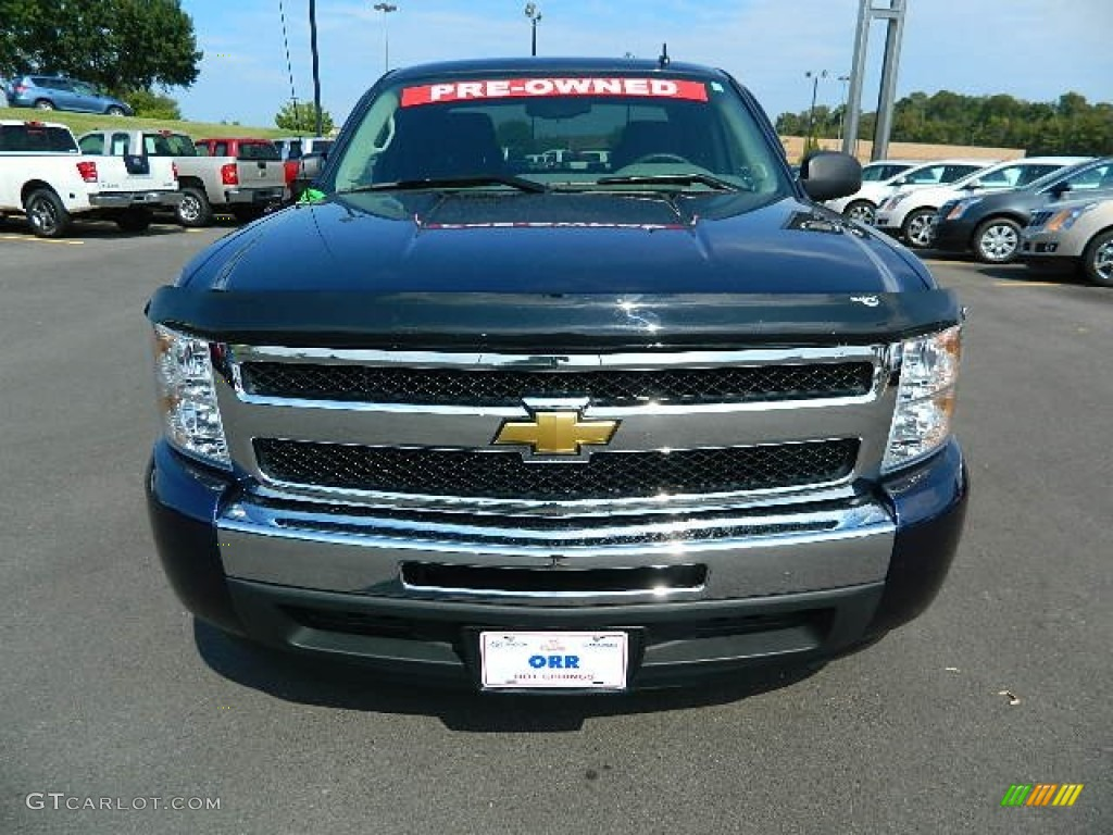 2011 Silverado 1500 LS Extended Cab - Imperial Blue Metallic / Dark Titanium photo #8