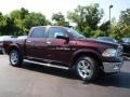 2012 Deep Molten Red Pearl Dodge Ram 1500 Laramie Crew Cab 4x4  photo #2