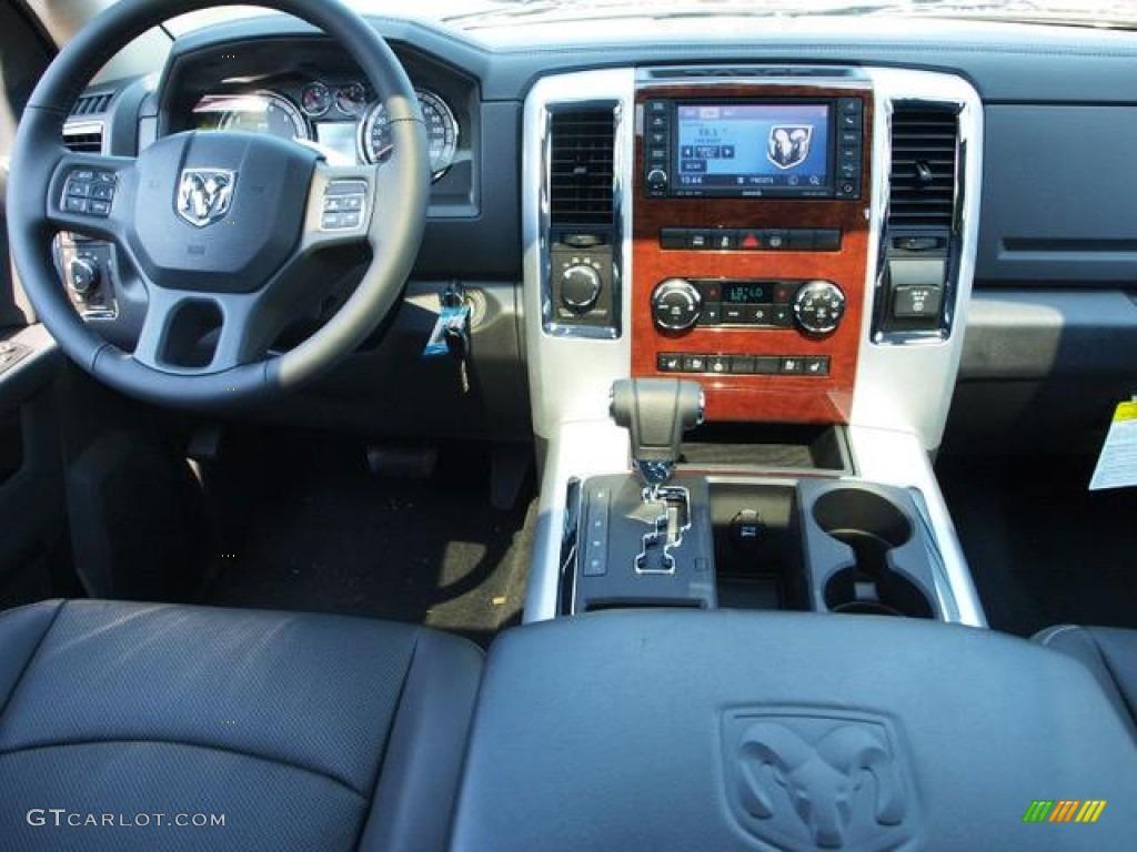 2012 Ram 1500 Laramie Crew Cab 4x4 - Deep Molten Red Pearl / Dark Slate Gray photo #5
