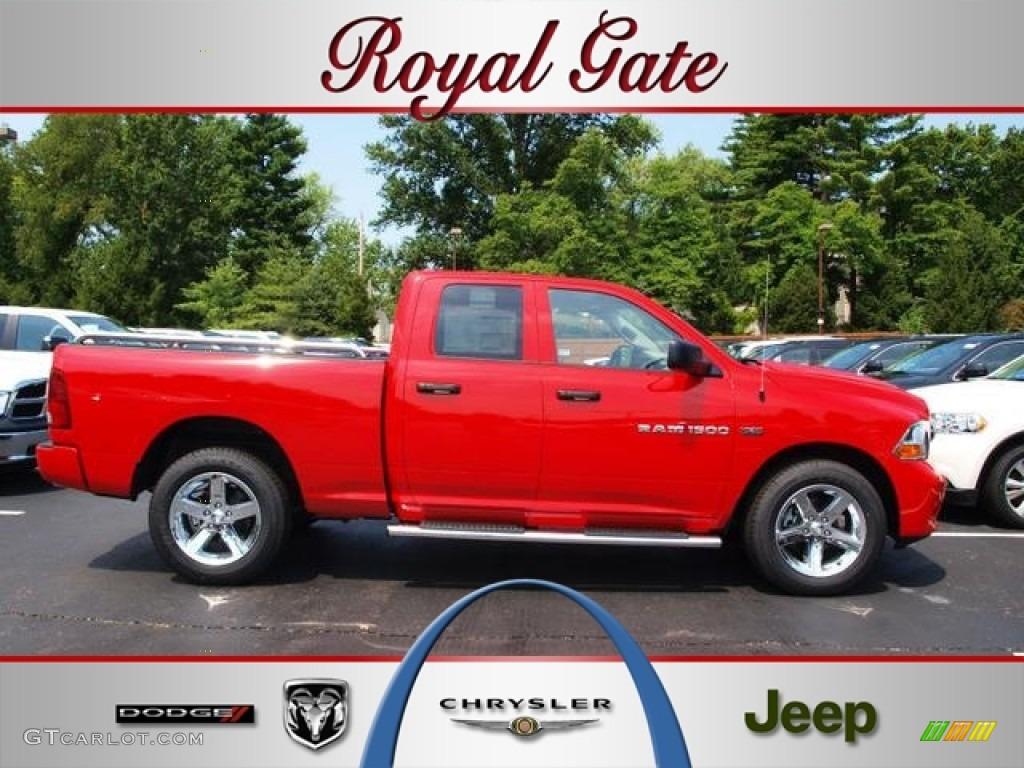2012 Ram 1500 Express Quad Cab 4x4 - Flame Red / Dark Slate Gray/Medium Graystone photo #1