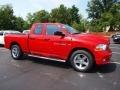 2012 Flame Red Dodge Ram 1500 Express Quad Cab 4x4  photo #2