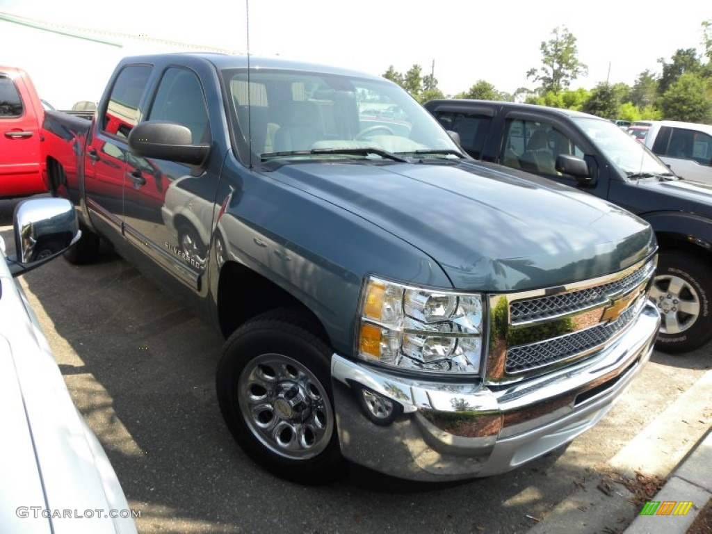 2012 Silverado 1500 LT Crew Cab - Blue Granite Metallic / Light Titanium/Dark Titanium photo #1