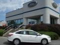 2012 Oxford White Ford Focus SE Sedan  photo #1