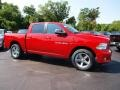 2012 Flame Red Dodge Ram 1500 Sport Crew Cab 4x4  photo #2